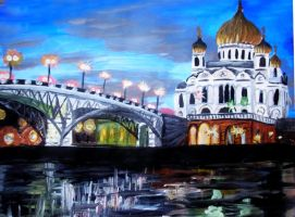 Cathedral at the Moskva-River by spodromantis