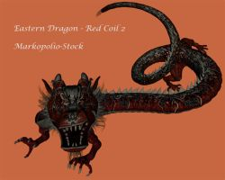 Eastern Dragon - Red Coiled2 by markopolio-stock