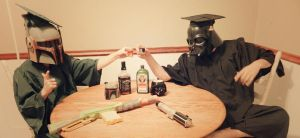 Graduating from Dark Side College by Champineography