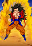 2nd Grade Ascended SSJ4 Goku - Coloured by RazorShadowZ