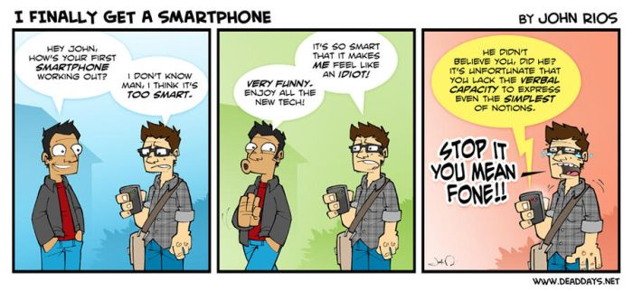 I Finally Get a Smartphone by deaddays