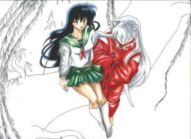 Up above-inu kagome unfinished by Sondra