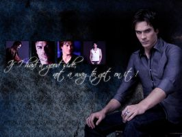 TVD wallpaper - Damon by xcraziiex