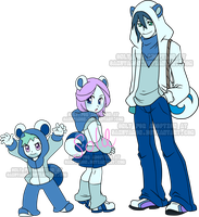 Fakemon Gijinka Adoptables Bubbear by Sakuyamon