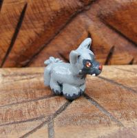 Mini Poochyena Sculpture by LeiliaClay