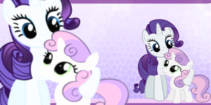rarity and sweetie bell wp by XxTOxiCfoX5555551xX