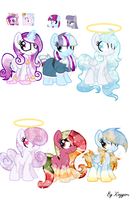 Set 2 Of Themed Ponies OPEN ! by Xingyaru