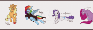 My Creepy Pony, Mane Six by Spectra-Sky