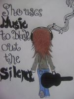 Music blocks out the silence by xitsveronikiox