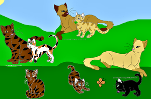 Tigerstar's Family by The1andonlyRaven