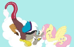 Discord and Fluttershy by TanukiCutie