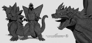zSpaceGodzilla alternate views by dopepope