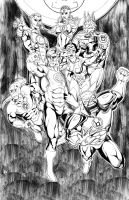 Lantern Corps pencils by thelearningcurv