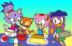 Girls Cooking by Sonicguru