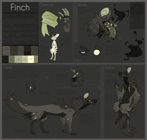 Finch Character Sheet (OLD) by Dusty-Demon
