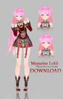 [MMD]TDA Megurine Luka-Dynasty Warriors Cosplay DL by MirelHelly