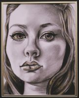 Gold Self portrait by Morganellie