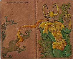 Custom Loki Moleskine by Serrifth
