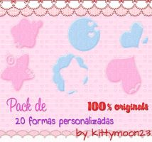Pack de 20 Shapes para PS by kittymoon23
