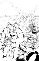 The Tick- 'A day at the beach' by DRedhead