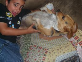 Day 110: Alex and Bella by Caedy