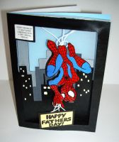 Spider-Man Fathers day card by Shadowoftheredrose