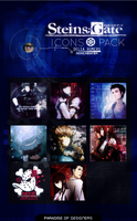Icons Pack Steins Gate  [MINI OLIMPIADAS] by HowlHeaven