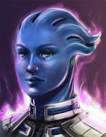 Liara T'Soni by Ma-rin