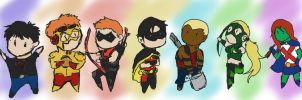 Chibi Young Justice by 1Kasumi