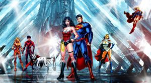 Superman and Wonder Woman-Meeting at the Fortress. by godstaff