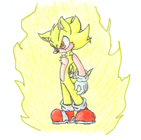 Fleetway Super Sonic by SneakingSniper