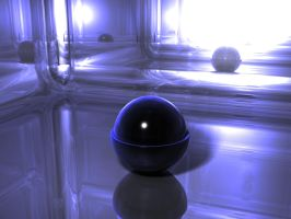 3D Abstract Mirror Room by Lyle-the-Hobo