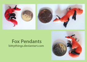 Fox Pendants - 3rd set - SOLD OUT by Bittythings