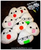 Kawaii Onigiri Plushie Pile! by The-Cute-Storm