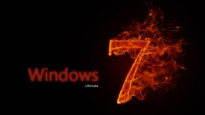 Wallpapers Windows_7_Ultimate_On_Fire_by_Genoblex