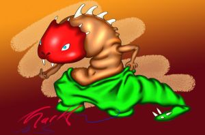 Mexican wrestling pants lizard by mcovvey