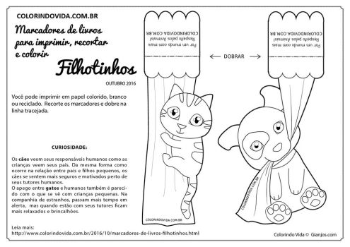 Puppy and Kitty Bookmarks - Marcadores de Livros by gianjos