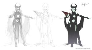 Maleficent Redesign wip by Izaskun