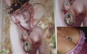 Ballroom Decadence Necklace by IdaLarsenArt