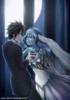 Gruvia: You may kiss the Bride by Arya-Aiedail