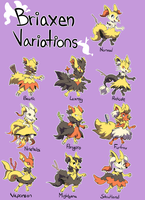 Briaxen Variations by albino-penguin