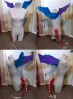 Commission - MLP Discord Wings and Tail by Hyokenseisou-Cosplay