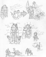 Bioshock 2 sketches by eightball6219