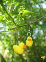 Rubber duck Earrings by daria-86