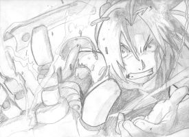 Full methal alchemist hand drawing by tdal12