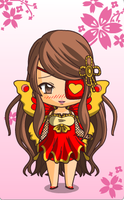 Chibi Me with Eyepatch N Wings by agentstardust101