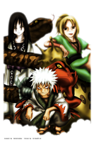 The three sannin by Oo-bea95-oO