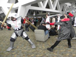 Otakon 2013 - Sir Daniel vs. New Dante 2 by mugiwaraJM