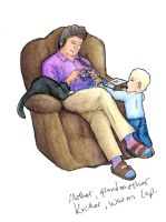 Knitter, Grandmother, Warm Lap by Nebulan