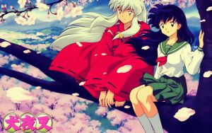 Inuyasha and Kagome by BlackLeatherAgiel